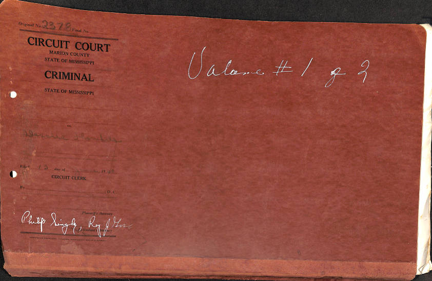 File Folder Cover - Marion County Courthouse -
