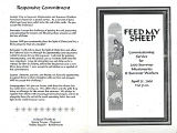 "BMC Archives Document. ""Commissioning Service for 2000 Summer Missionaries"": April 25,..."
