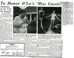 Article to honor Miss Gussie; Unknown date