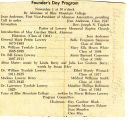 Founder's Day Program