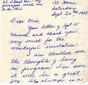Letter from Etta Mae to Mae; September 20,1958