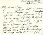 Letter from Mary Ella White to...