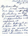 Letter from Maryella White to May; May 16, 1944