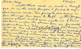 Postcard from [author] to Mrs. J. B. Black; May 10, 1944