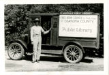 Clarksdale Public Library Bookmobile and Man