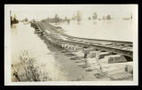 Mississippi Flood, warped train tracks; 1927.