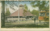 Postcard of the Summer Theatre at Lake Park, Columbus, Mississippi