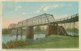 Postcard of highway bridge over Tombigbee River, Columbus, Mississippi