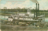 Postcard of Tombigbee River Boat Landing at Columbus, Mississippi