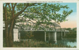 Postcard of new Tombigbee River Bridge, Columbus, Mississippi