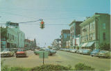 Postcard of Main Street looking west, Columbus, Mississippi