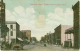 Postcard of Columbus, Mississippi, Market Street looking North
