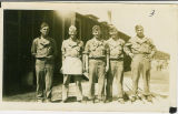 Soldiers Before Camp Van Dorn Mess Hall