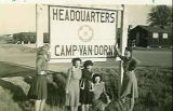 Sign for the Headquarters of Camp Van Dorn