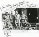 Six soldiers at Camp Van Dorn