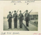 Four Soldiers of Company A, 324th Engineers