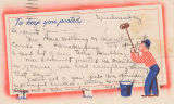 Postcard from Jean Jackson to Virginia Thompson; August 5, 1943