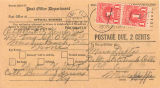 Address form from Post Office; [undated]