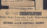 Newspaper, Lady Statesmen headlines