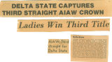 Newspaper, Delta State Captures 3rd Straight AIAW Crown