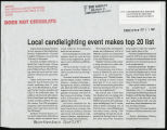 Local candlelighting event makes top 20 list.