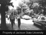 Photograph of Millsaps College student protesters holding crosses; [May 1970]