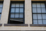 Administration building window; 2005.