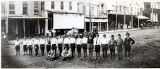 Early boy scout troop: east side square