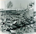 Tornado damage 1976: Demolished building