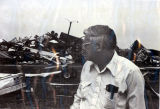 Tornado damage 1976: Charles Riddell surveys trailer park