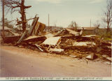 Tornado 1976: debris of R. H. Burrage home, 145 Walnut Street