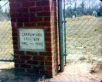 Greenwood Cemetery, sign