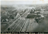 Birds eye view, train yard