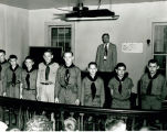 Mayor Marion Simpson and Boy Scouts