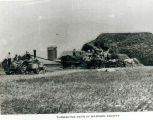 Threshing oats in Madison County