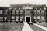 Flora High School building, 1937