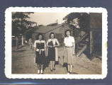 Three unidentified women; April 1946