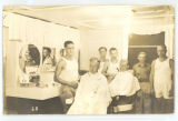 Barbershop interior; circa 1940-1945