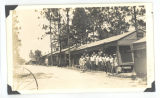 Barracks exterior; circa 1940-1945