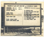 Prisoner of War Camp Directory and Location of Shops sign; circa 1940-1945
