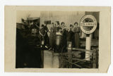 Industrial Institute And College Students At Columbus Line Railroad Station; 1916