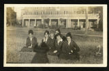 Students In Front Of Shattuck Hall In Navy Uniforms; 1918