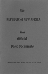 Republic of New Africa : short official basic documents; undated